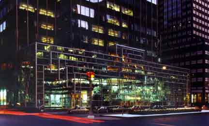 Photo: Chemical Bank Headquarters, ChemCourt at night on Park Avenue