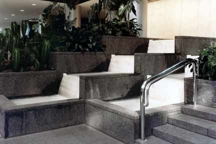 Photo: Chemical Bank Headquarters, ChemCourt, Water Steps & Wall at the entrance to the Elevator Lobby