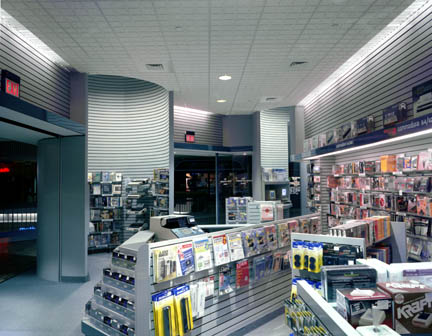 Photo: Electronics Boutique Interior of Store looking out to the mall