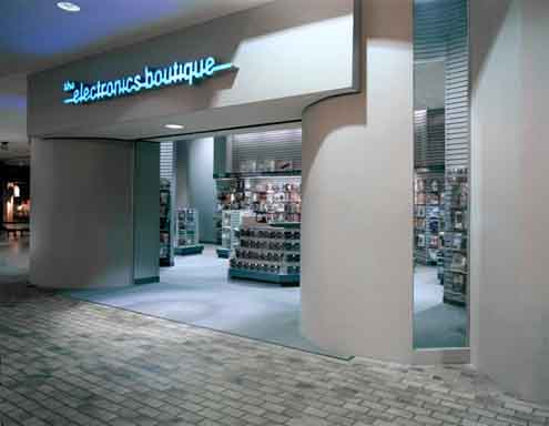 Photo: Electronics Boutique Entrance at Mall to Anchor Store