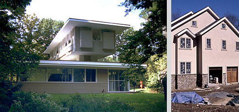 South Elevation of the Rosedale House on the left (now demolished), and on the right, a house under construction