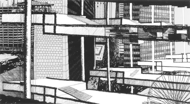 Drawing of the Horizontal Skyscraper